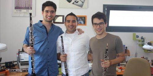 Samuel Bastos (Oboe solo da Ópera de Zurique), Frederico, Tiago Coimbra (principal oboe de Göttinger Symphonie Orchester - Alemanha)